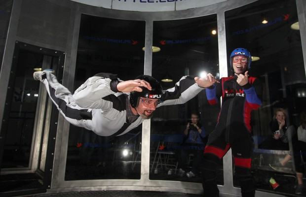 Dave Goes Indoor Skydiving!