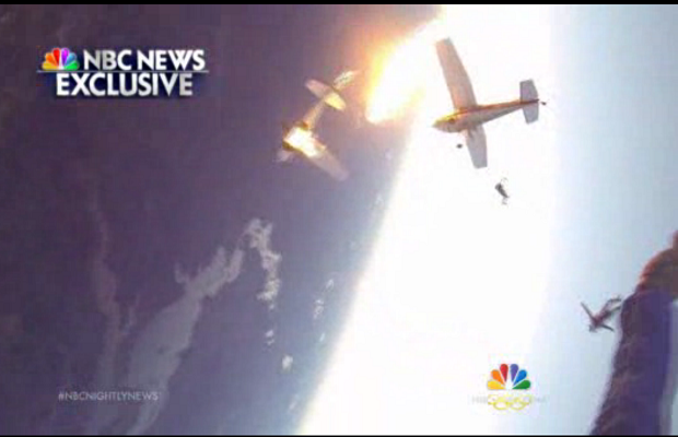 Skydiver Helmet-Cam Footage of the Two Planes That Collided