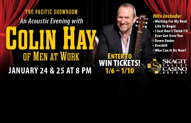 Colin Hay Ticket Giveaway CONTEST RULES